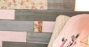 A Metallic Wood Plank Wall with a Floral Twist for a Baby Girl's Nursery