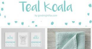 Teal & Grey Nursery   Gender Neutral Nursery   Koala Baby Nursery   Baby Girl&#3...