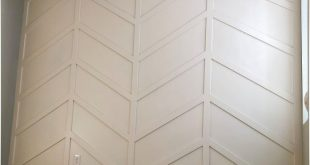 Honey Built Home - Tutorial Herringbone Board and Batten Wall DIY