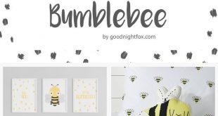 Girl's Room Baby Bumblebee | Bee You | Nursery Art Print | Bee Nursery | Bum...