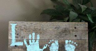 DIY Love Hand- und Fußdruckzeichen