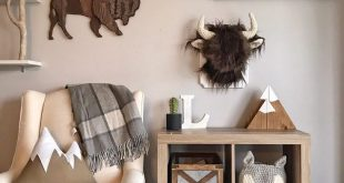 Faux Taxidermy Bison Plush Wall Mount, Woodland Nusery, Mountain Nursery