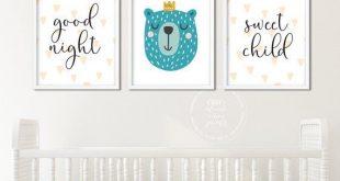 Good Night Sweet Child Nursery Printable Set | Gender Neutral | Cute Animals | T...