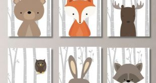 Baby Boy Kinderzimmer Kunst. Woodland-Kinderzimmer-Kunst. Woodland-Kinderzimmer-Dekor. Waldtiere. Forest Friends. Baumschule. Junge Schlafzimmer Kunst. NS-792