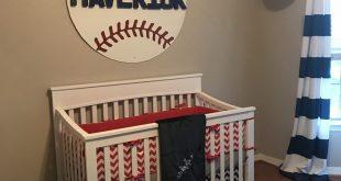 Baseball nursery, red white and blue nursery decor, boy nursery, baseball baby r...