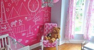 Bedroom wallpaper accent wall pink girl nurseries 58 super ideas 2019 Bedroom ...
