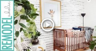 Easy DIY Hand Painted Faux Wallpaper Accent Wall