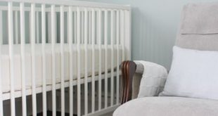 Gender neutral teal and yellow mustard and gray and white nursery, painted BM Wo...