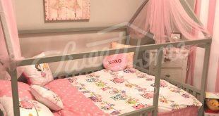 Kleinkindermöbel Tipi Kinderheim Bett FULL / DOUBLE Größe mit Lamellen