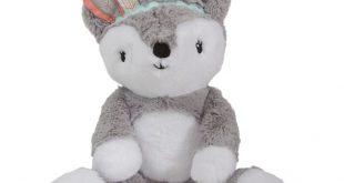 Little Spirit Gray/White Plush Fox Stuffed Animal - Cheyenne
