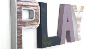 Playroom Decor for Girls | Little Girl Playroom | Gift for Little Girl | Purple Nursery Art | Rustic Girl Nursery Decor | Play Letters