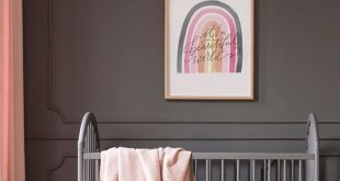 Rainbow art, nursery art  How do you feel about dark walls in a nursery? We actu...