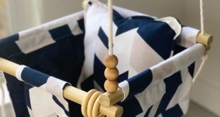 Ready to Ship, Navy blue baby swing, Blue Baby Hammock, Gender Neutral nursery decor, First birthday gift, baby boy, Natural Baby toy