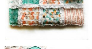 This Baby Foxes Rag Quilt is perfect for a gender neutral nursery! It features a...