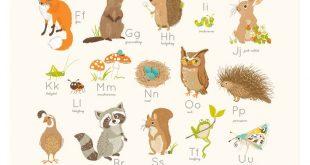 Wald-Wand-Kunst, Kinderzimmer-Wand-Dekor für Kinder, Wald-Alphabet, Abc, zählen, 123-Kinderzimmer Wandkunst für Kinder