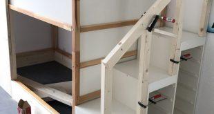 Was für eine schöne Idee für ein Kinderzimmer, Stauraum und Treppe in einem - # Stauraum #A #und #Idee # in einem