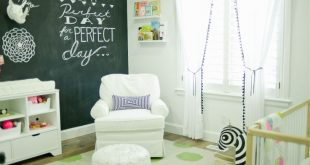 nursery room with chalkboard accent wall